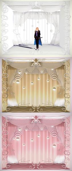 装飾された白い舞台【MMDステージ配布】