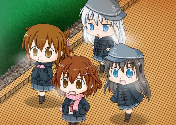 第六駆逐隊の冬支度。
