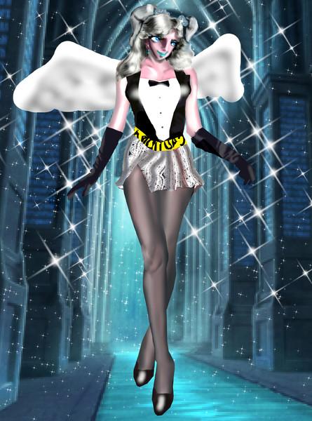 ボディコン天使ミニスカパンスト娘