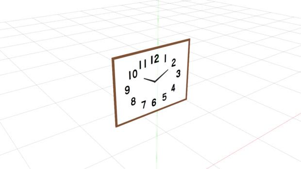 昭和っぽいシンプルな時計