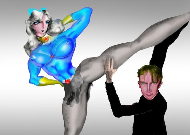 バレエ姫、パンツまる見えノーブラボディコンの娘