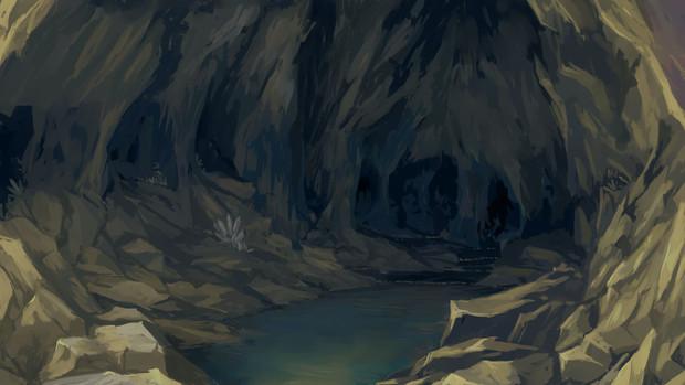 背景洞窟内部 Kjj さんのイラスト ニコニコ静画 イラスト