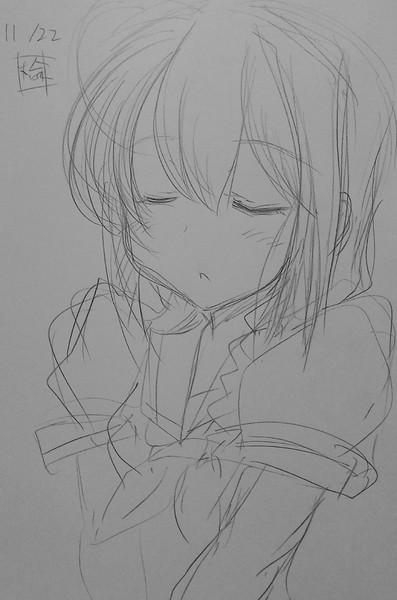 今日の時雨さん(寝顔)