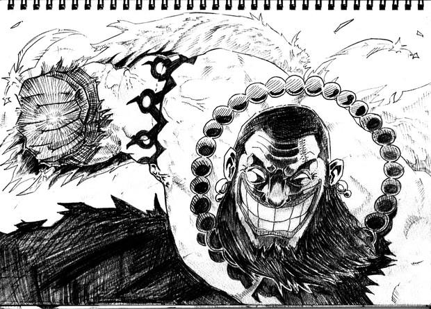 2B鉛筆でウルージさん描いてみた