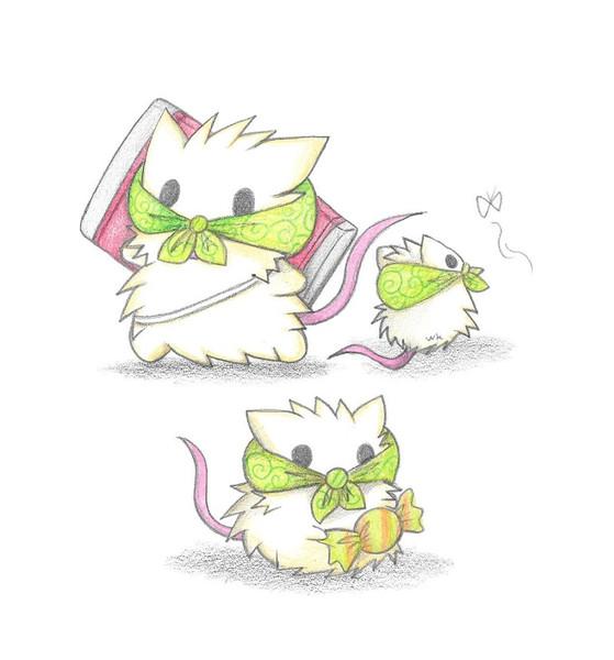 食料を調達する3匹のネズミ