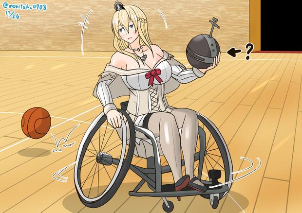 車椅子バスケに挑戦するウォースパイト