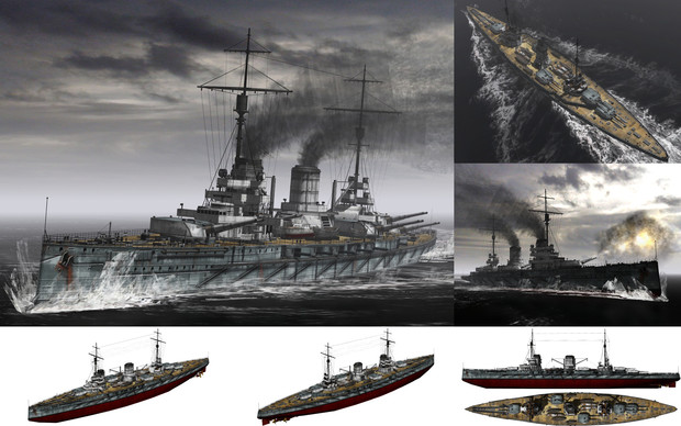 MMD用モブ巡洋戦艦1915(モブトケ)セット