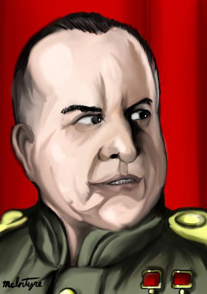 ソ連邦元帥ゲオルギー・ジューコフの眼光