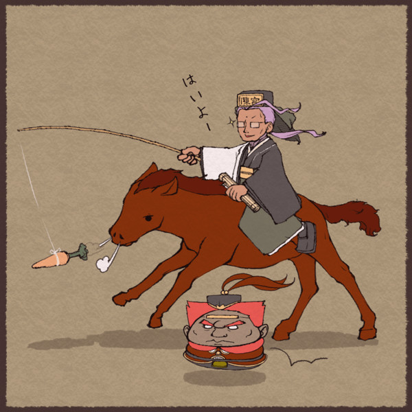 陳宮と赤兎馬と呂布