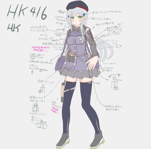 【MMDモデル】HK416モデル制作中①