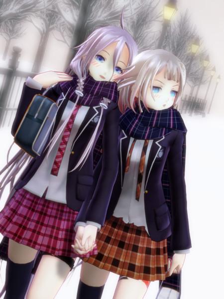 噂のARIA姉妹、冬の学校帰り