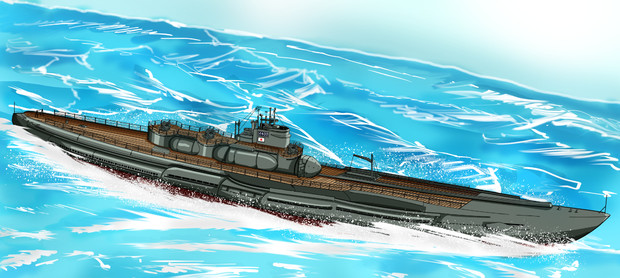 イラスト 潜水艦