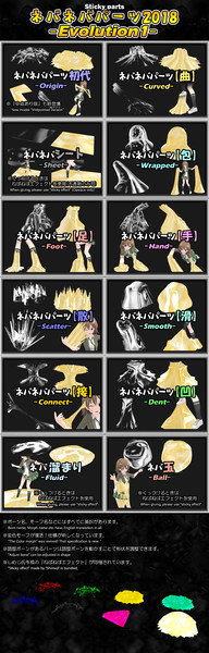 【モデル配布】ネバネバパーツセットEvolution1