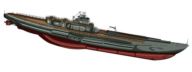 大日本海軍特潜型潜水艦 伊-400(海ナシ差分