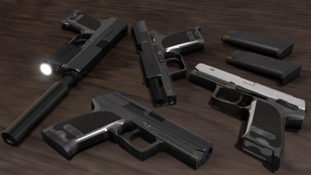 【配布再開】USP.45 & 9mm【モデル配布】