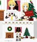 クリスマスカードとクリスマス部屋【MMDステージ配布】