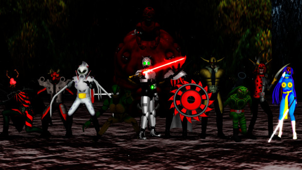 シャドームーン率いる怪人軍団