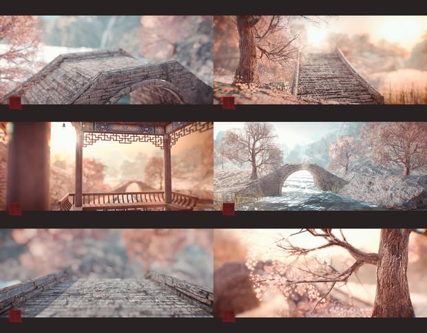 溯北式Stage038 山水花橋