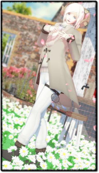 【モデル配布】カモミール【MMDオリキャラ】