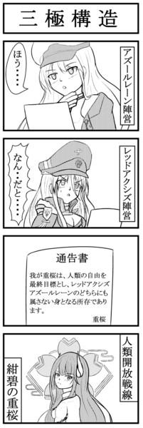 紺碧の重桜『三極構造』