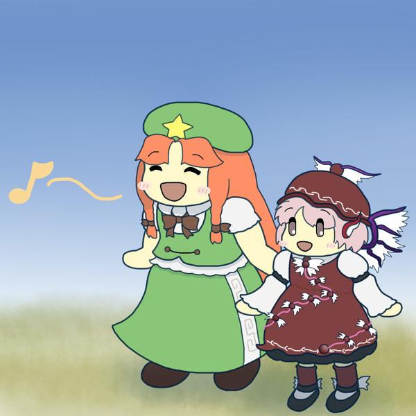 ミスティアと一緒に歌う美鈴