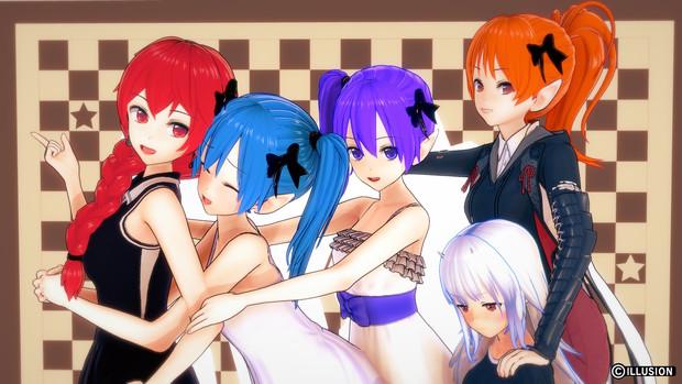 4姉妹と幼少ケーテちゃん!