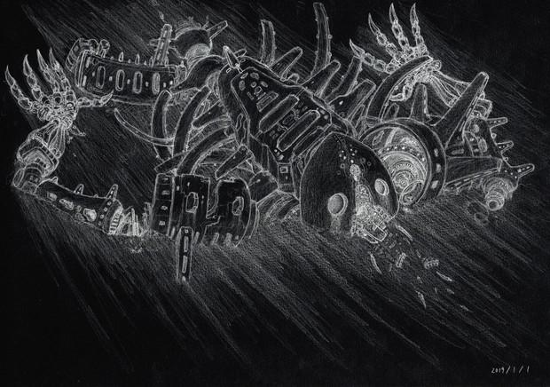 巨神兵骨格(1984年 風の谷のナウシカ劇場版バージョン)