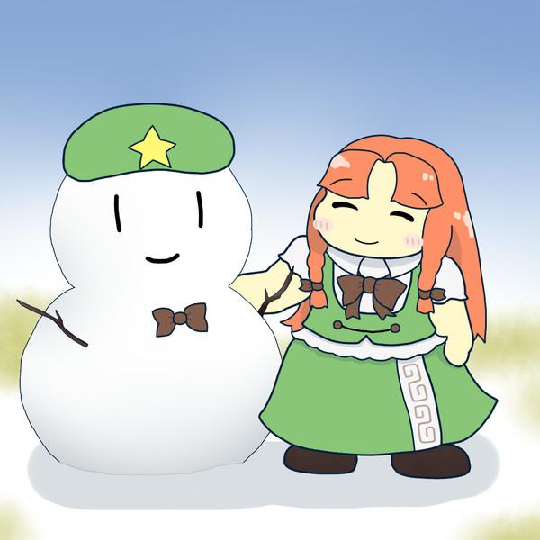 雪だるまと美鈴