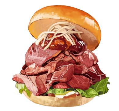 ローストビーフのハンバーガー