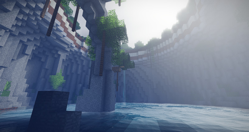 【Minecraft】セノーテのような地形
