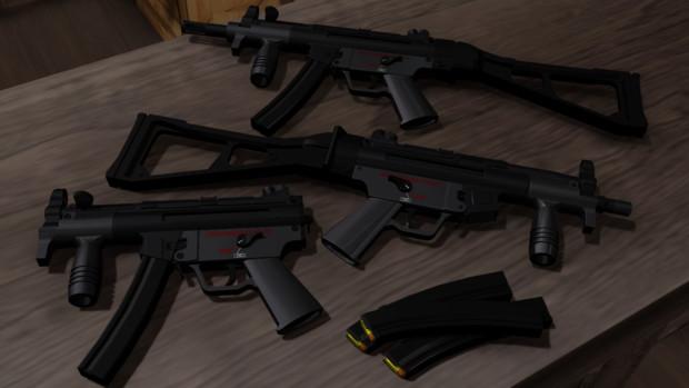 【MMD】H&K MP5K【モデル配布】