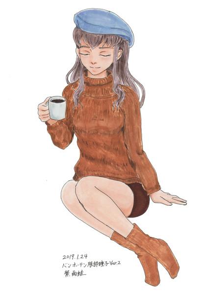 コピック着色 服部瞳子さんぽいの18.5