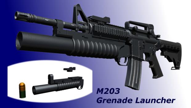 【MMD】M203 Grenade Launcher【モデル配布】