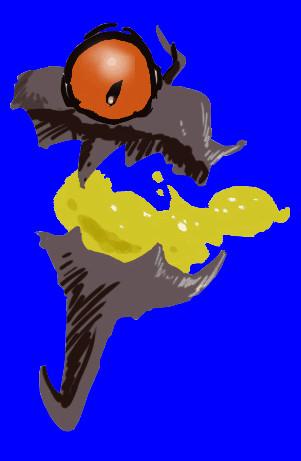 クッキー☆本編5:20あたりでふわふわ飛んでいく生命体BB.gif (ループ再生対応版)