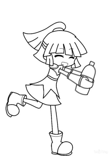 【GIFアニメ】アルルがコーラを振るだけ【ぷよぷよ】
