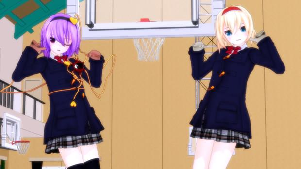 【MMD】キラッ☆【制服さとり&アリス】