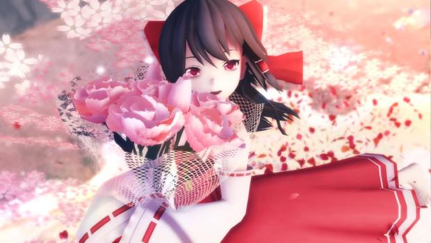 【第15回東方Project人気投票支援】花が似合う霊夢さん