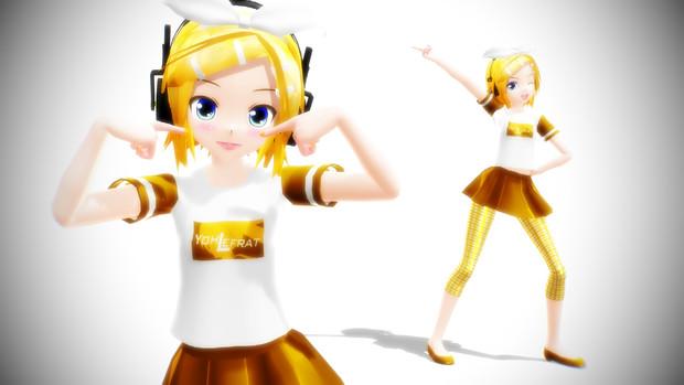 【MMDモデル】Lat式リンYohl流フリーTシャツモデル