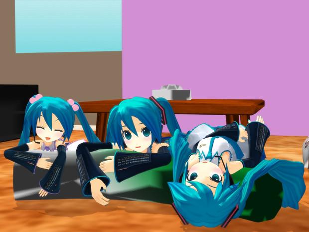 【MMD】えっちゃん3姉妹