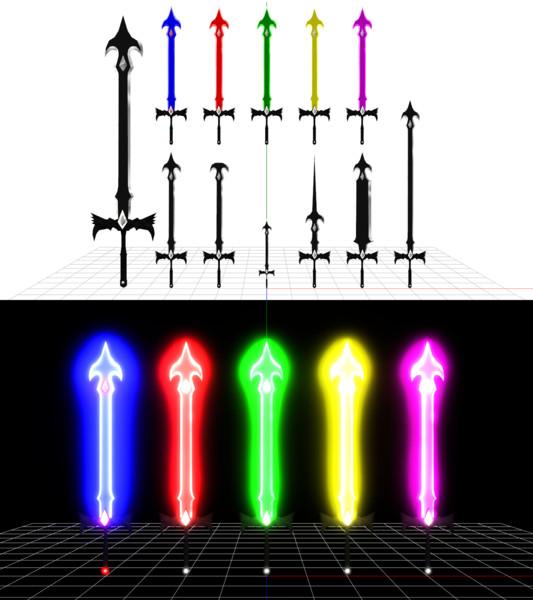 【ニコニ立体で配布】モーフで変形可能な武器