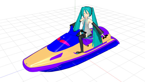 """[MMD] Water_motorcycle """"水上バイク"""" PMXモデル配布します[MMM]"""