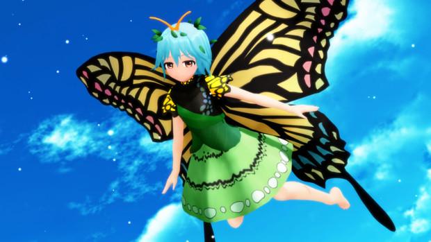 神に近づく蝶