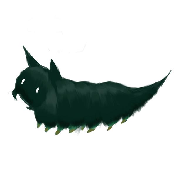 猫のような芋虫さん。
