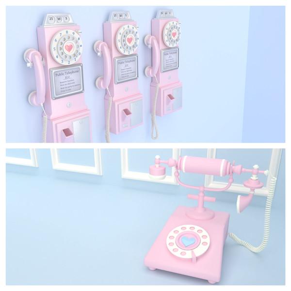 [MMDアクセサリ配布]レトロな電話二種