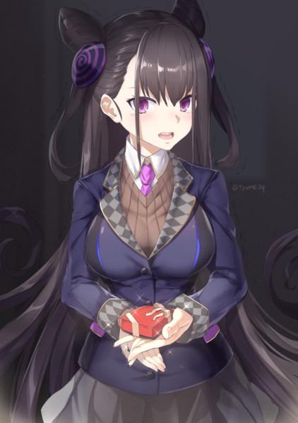 チョコをあげると言い出せなくて夜になってしまった紫式部さん