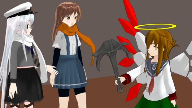 【MMD艦これ】うちのコントコーナーにゼナちゃんが参加してくれました3【ゼナちゃんの鎮守府巡り】