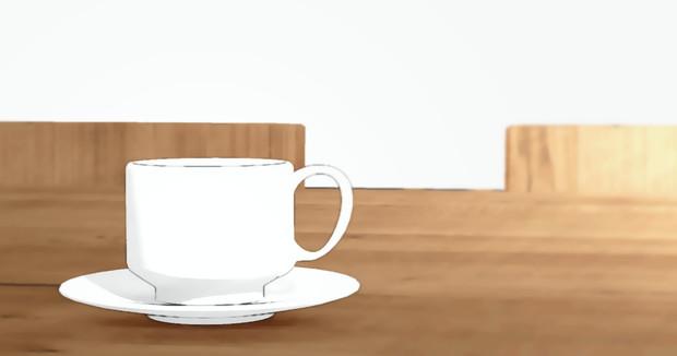 【更新】MMDモデル コーヒーカップ