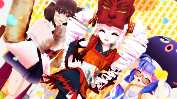 【MMD】きりたん、ついなちゃん、ウナ【VOICEROID 少女組】