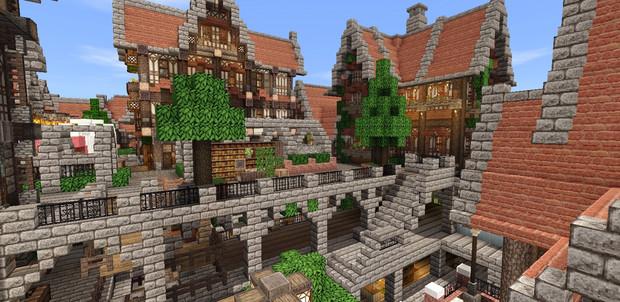 Minecraftmcpeで西洋の街造り2住宅街 こだソン さんのイラスト