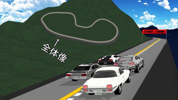 【MMDステージ配布】簡易的な山のレース場
